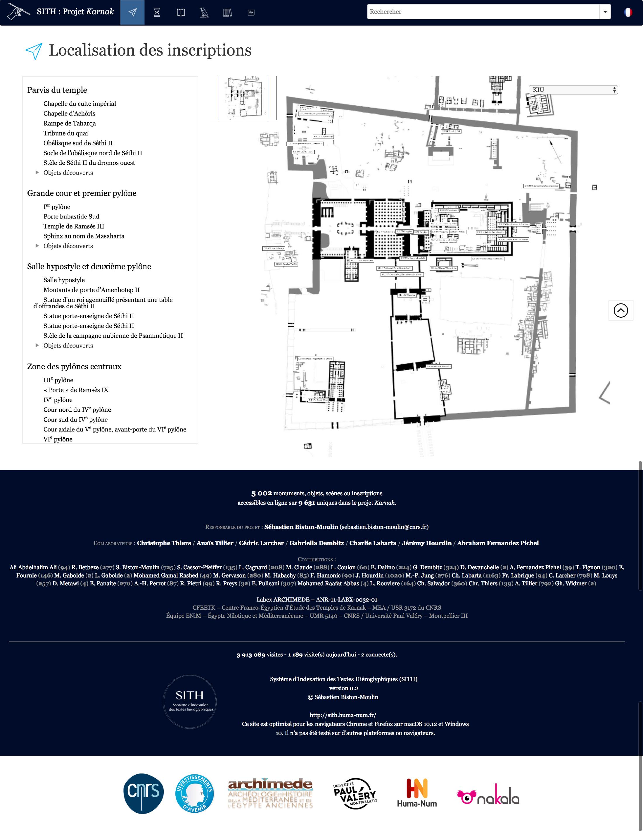 Inauguration de la nouvelle interface du projet Karnak et ouverture des index des inscriptions de Karnak